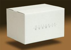 オフィスインの箱は押入れでも目立つシンプルホワイト